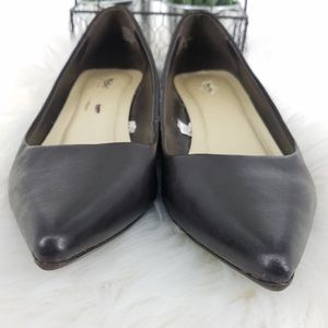 Mossimo Supply Co. Shoes - Mossimo Brown Leather Pointy Toe Kitten Heels
